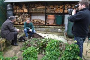 Filming for Richard Corrigan's new series in Trevor's garden