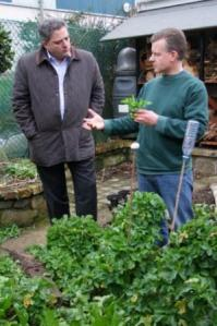 Richard Corrigan discussing everlasting cabbage with Trevor
