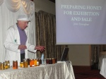 Learning from master judge John Donoghue about producing top quality honey for sale at the Banner Beekeepers' Conference, Sun. 3 Feb.