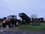 A welcome sight, the arrival of another load of horse manure, thanks to Dara Ward and the Kellys of Killinick.