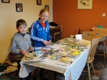 Young horticulturalists, Alan and Ailish Neville, from Curracloe, sorting seed packets by varieties and 'sow by' dates.