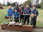 Student guests earn their keep chitting seed potatoes. Thanks Ailis, Alan, Adam, Shane, Brian and Conor.