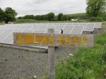 Harnessing the sun's energy in Cloughjordan Eco-Village, Co. Tipperary, Ireland's largest prototype solar park to date.